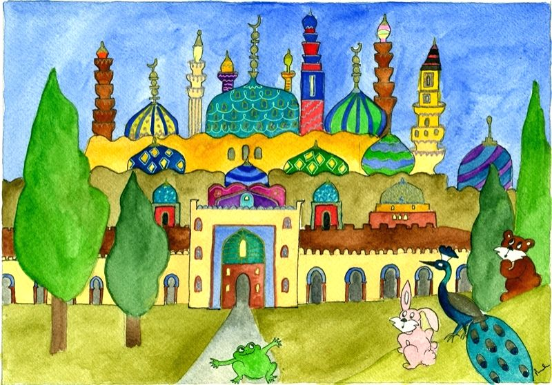 A nomad's journey through bright watercolours.