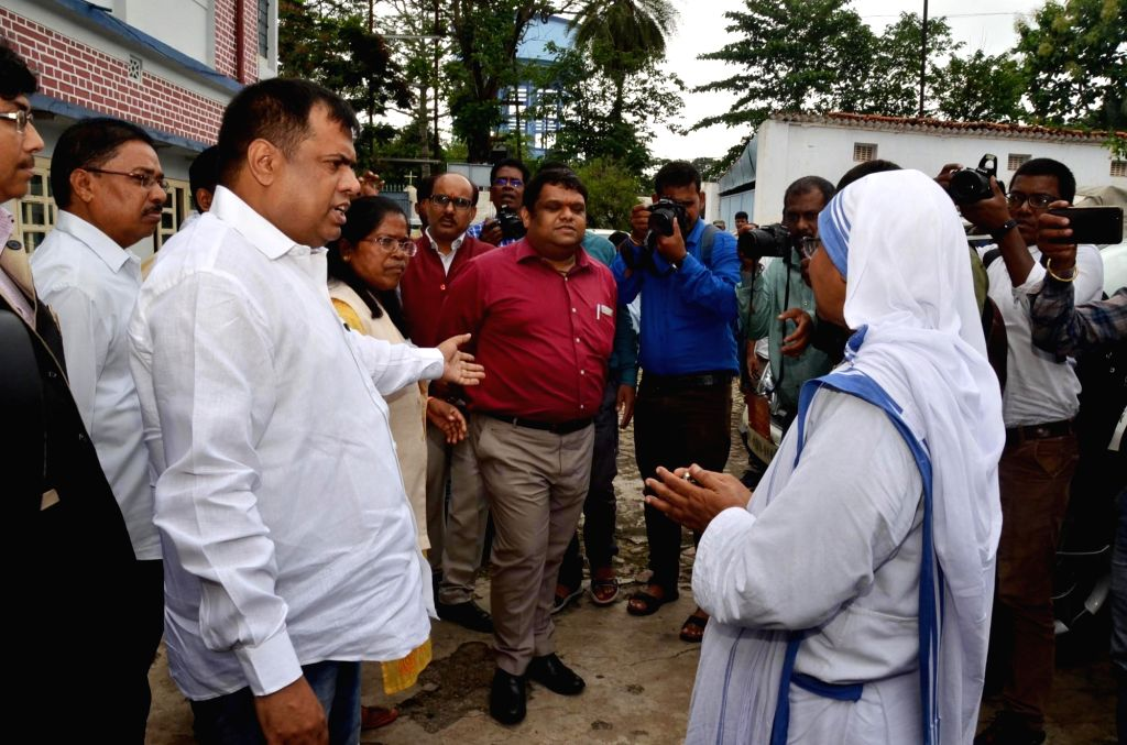 A nun receives a delegation from National Commission for Protection of Child Rights (NCPCR) on its visit to Missionaries of Charity, in Ranchi on July 24, 2018.