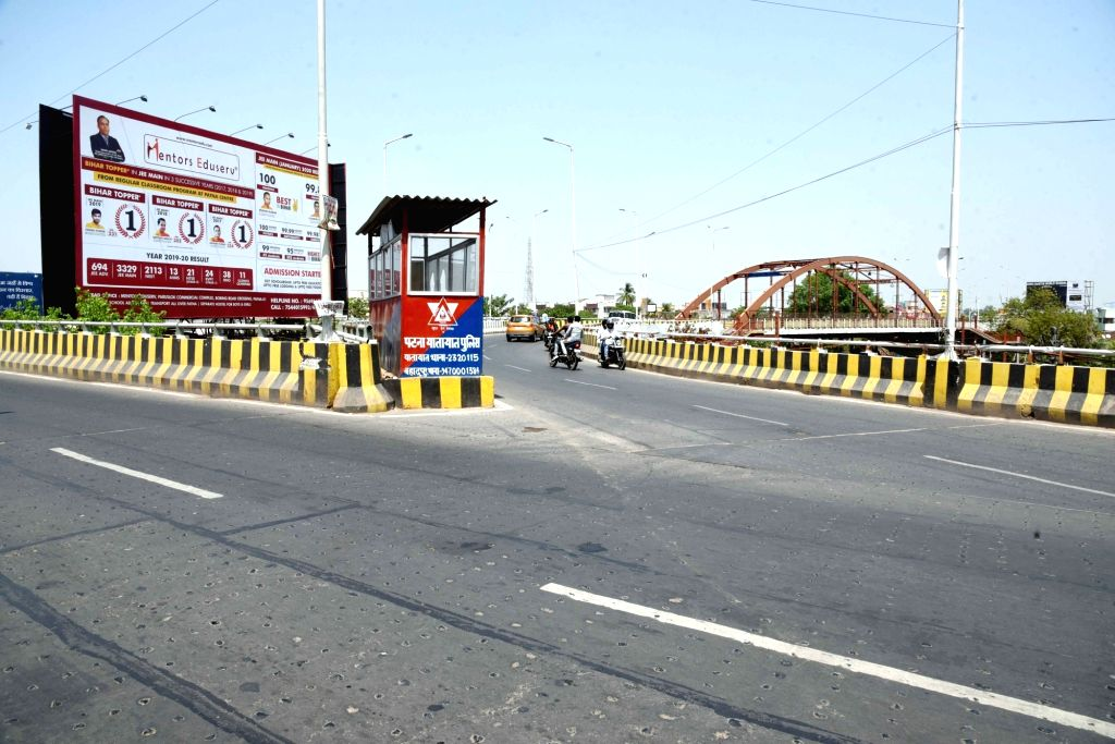 A Patna street bears a deserted look on Day 8 of the 21-day nationwide lockdown imposed as a precautionary measure to contain the spread of coronavirus, on Apr 1, 2020.