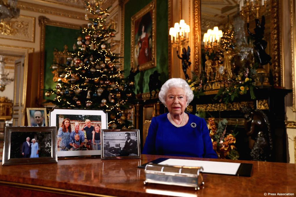 A photo of the British Queen 's Christmas message shared by the royal family is doing rounds on the social media that shows Price Charles and Camilla and Prince William-Kate and family but there is ...