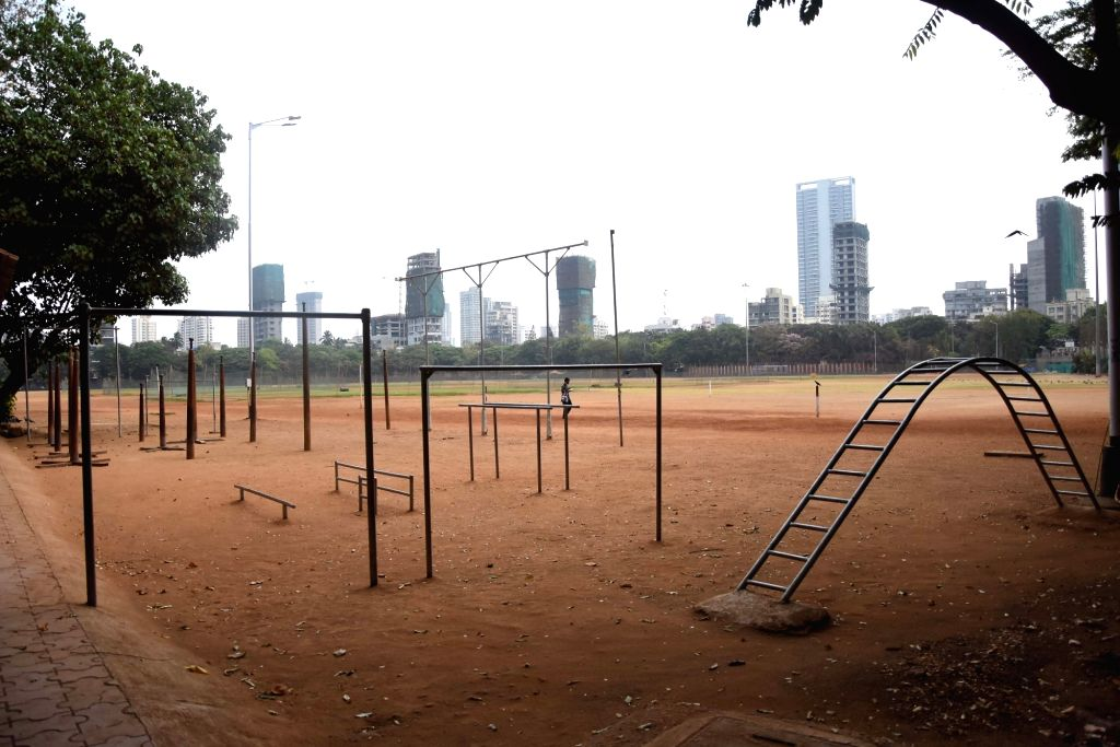 A playground bears a deserted look on Day 2 of the 21-day nationwide lockdown imposed by the Narendra Modi government over the coronavirus pandemic; in Mumbai on March 26, 2020. - Narendra Modi