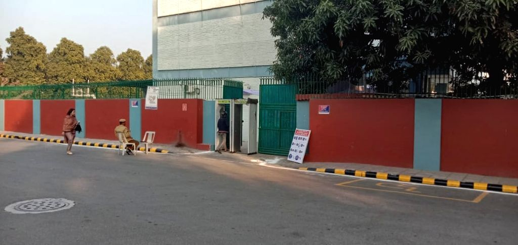 A polling station on Humayun Road in New Delhi bears a deserted look during Delhi Assembly elections 2020. Voter turnout in Chief Minister Arvind Kejriwal's constituency in the national ... - Arvind Kejriwal