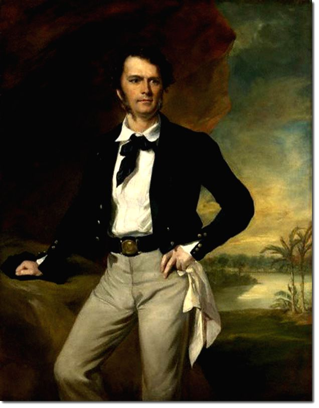 A portrait of James Brooke, painted on his first visit to England after becoming Rajah of Sarawak