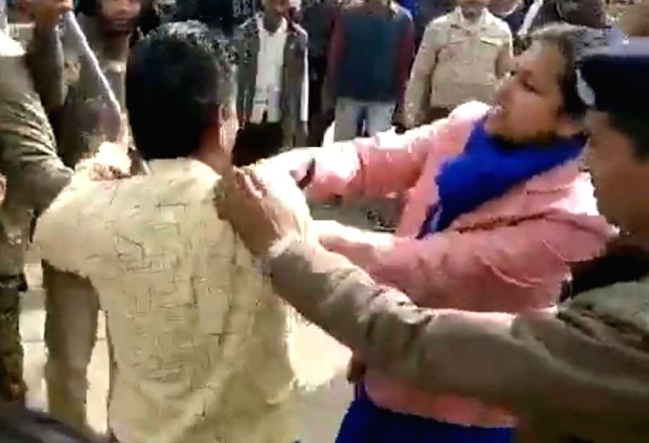 A pro-CAA rally in Biaora town near here turned violent on Sunday. Videos showing the district collector Nidhi Nivedita slapping an unruly protester and deputy collector Priya Verma indulging in a street fight went viral on Sunday. There were furious - Priya Verma