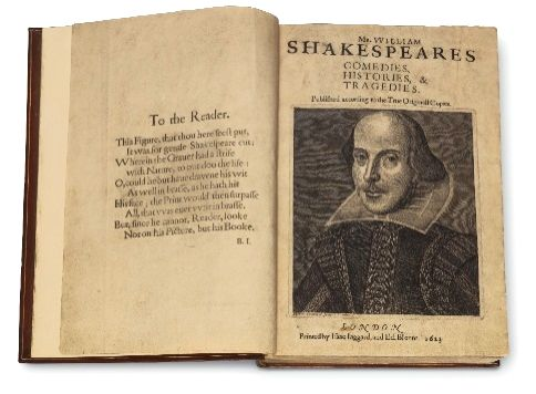 """A rare complete copy of William Shakespeare's """"Comedies, Histories and Tragedies"""", often referred to as his First Folio is headed to auction."""