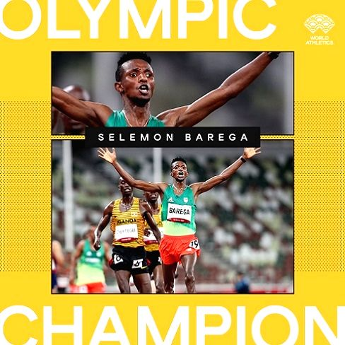 A runaway success - the story of an Ethiopian who won first athletics gold of Tokyo 2020 Olympics.(photo:IN)