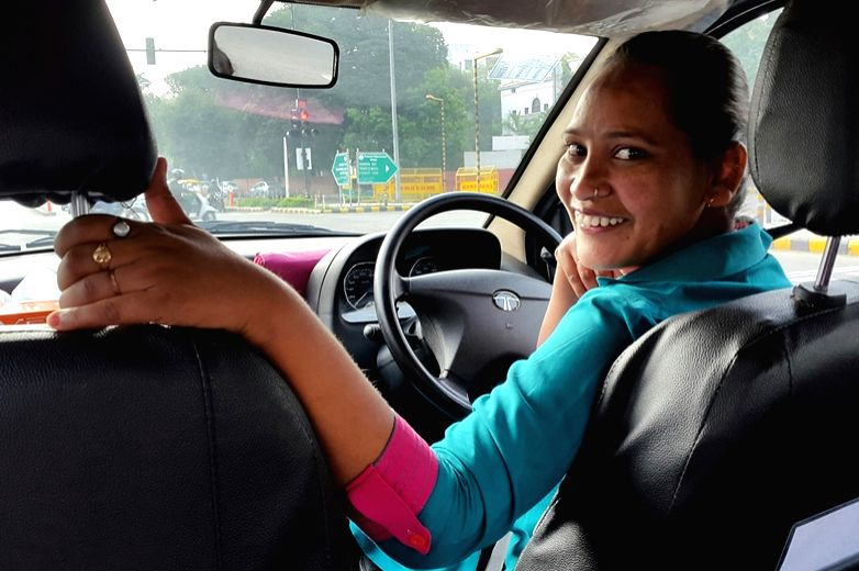 A Sakha cab driver. (Photo Source: Azad Foundation/Sakha Consulting Wings)