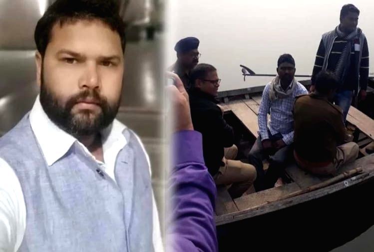 A Samajwadi Party leader drowned after his boat capsized while he was trying to throw the body of her wife after murdering her, in the Barua dam in Karvi Sadar Kotwali area of Chitrakoot district of Uttar Pradesh.