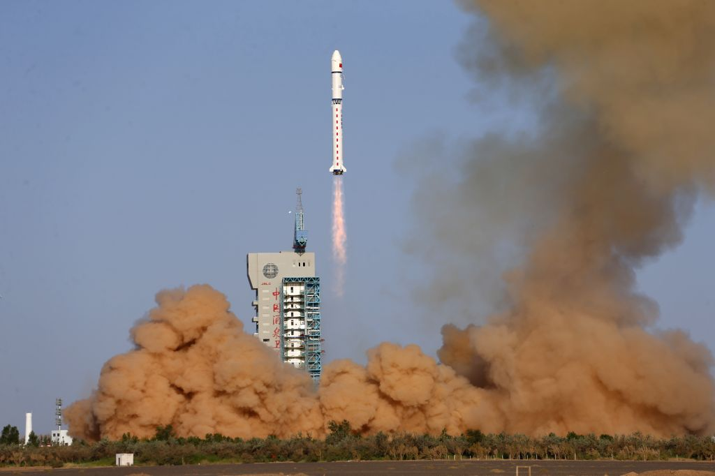 A satellite, the second of the Shiyan-6 series, is launched by a Long March-2D carrier rocket at the Jiuquan Satellite Launch Center in northwest China, July 5, ...