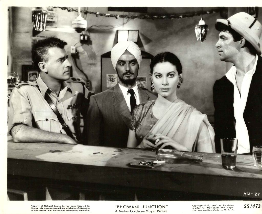"A scene from the film adaption of John Masters' ""Bhowani Junction"""