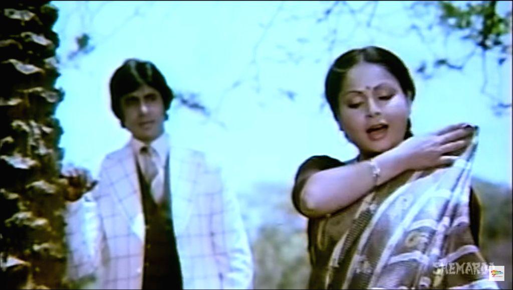 "A screen grab from the song ""Sawan Ke Jhoole"" of the film ""Jurmana""."