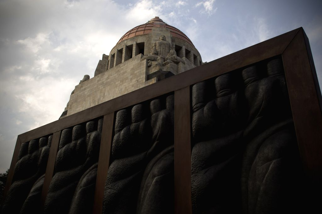 """A sculpture by Costa Rican artist Jorge Jimenez Deredia is displayed as part of the exhibition """"A genesis for peace"""" in Mexico City, capital of ... - Jorge Jimenez Deredia"""