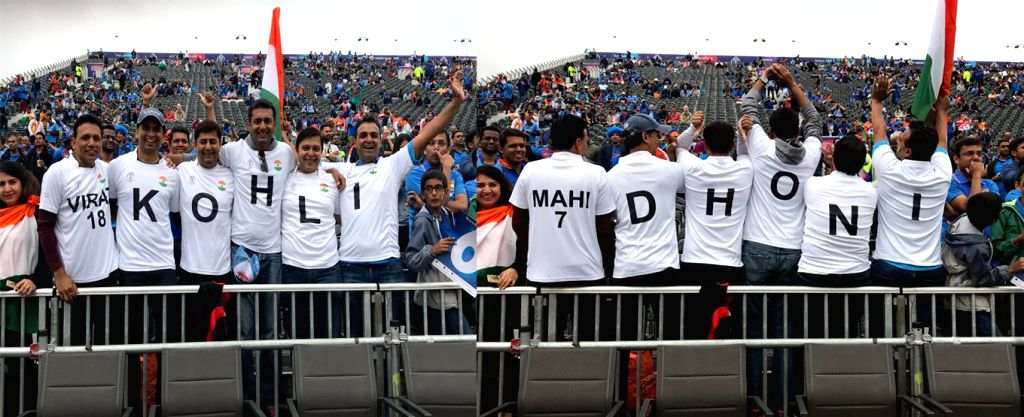 A set of Indian fans wearing jersies with Virat Kohli's name at the front and Mahendra Singh Dhoni's at the back got the Intenational Cricket Council (ICC) to cook up a smart tweet that got people talking as India took on New Zealand in the first sem - Virat Kohli and Mahendra Singh Dhon