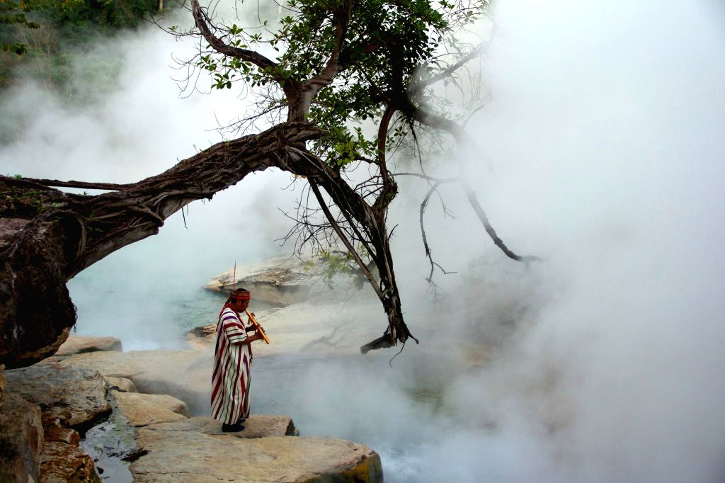 A shaman at the boiling river