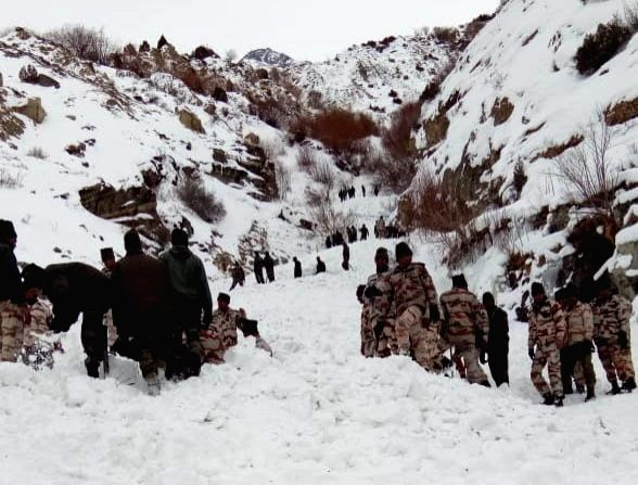 A snow avalanche killed a soldier while five other soldiers went missing near the Tibet border in Himachal Pradesh's Kinnaur district on Feb 20, 2019. Five Indo-Tibetan Border Force (ITBP) ...