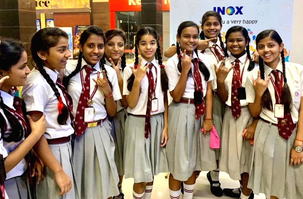 """A special screening of the recently released Taapsee Pannu and Bhumi Pednekar-starrer """"Saand Ki Aankh"""" has been conducted for students in Pune to mark Children's Day. The screening was organised by Cinepolis P & M Mall in Pune on Wednesday."""