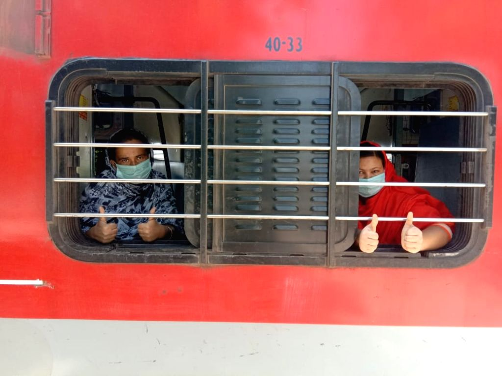 A special train left from Malur station near Bengaluru to Bankura in West Bengal with 1,247 migrant passengers.