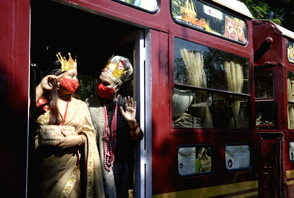 A special tram, named Paat Rani: The Jute Queen was launched on the eve of Diwali and Kali Puja, in Kolkata on Nov 13, 2020. The tram will display jute products made by inmates of the ...