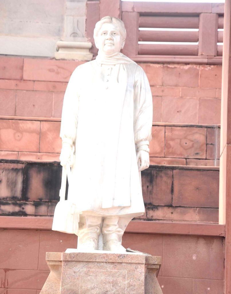 A statue of BSP supremo Mayawati in Lucknow's Gomtinagar on Feb 8, 2019.