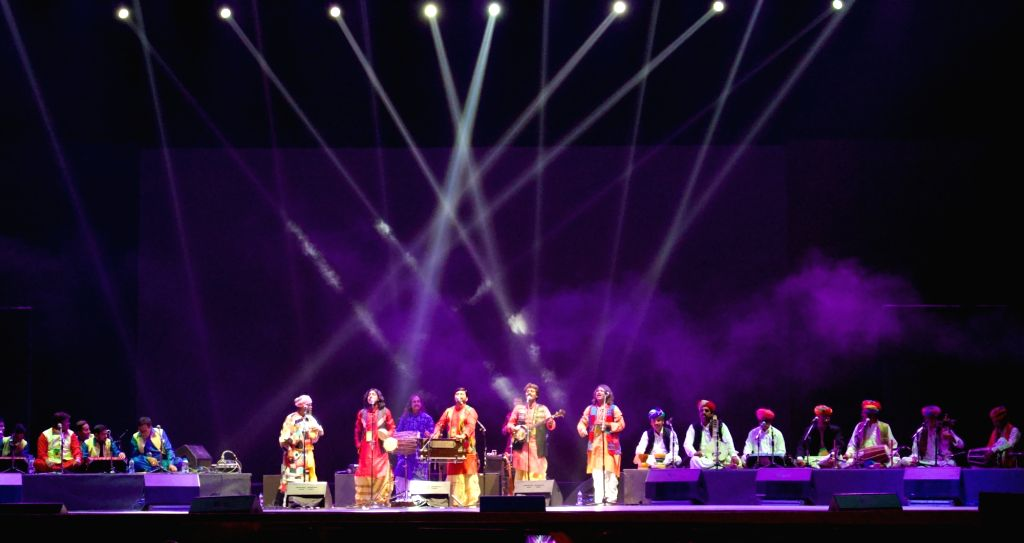 A still from Songs of Nature, where Baul performers played songs alongside Qawwals, Langas and Manganiyars. (Photo Source: Sarthak Shukla)