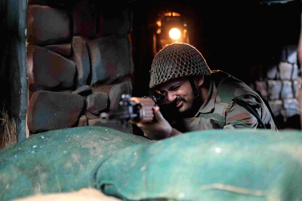 "A still from the Indian anti-war movie titled ""Bunker"", which is aimed to narrate the stories of millions of soldiers, will hit the screens on January 17."