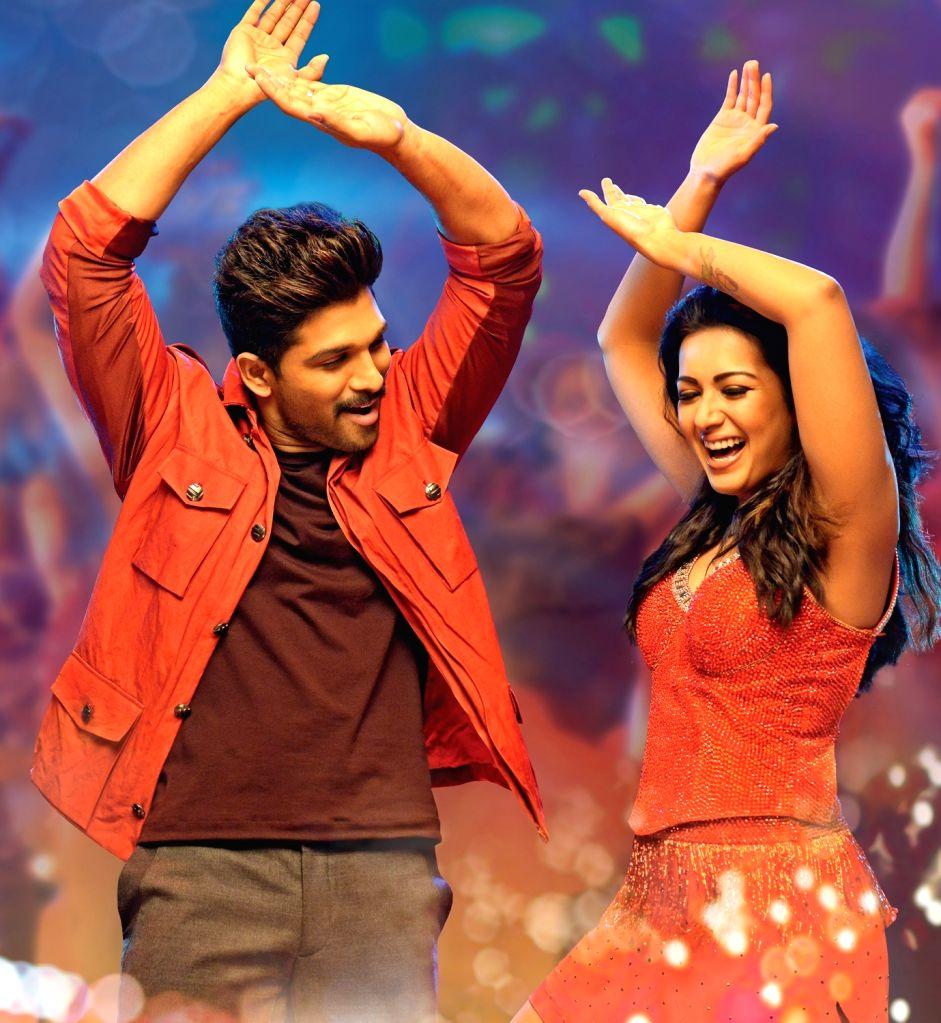 A still of film Sarrainodu - Actors Allu Arjun and Catherine Tresa. - Allu Arjun and Catherine Tresa