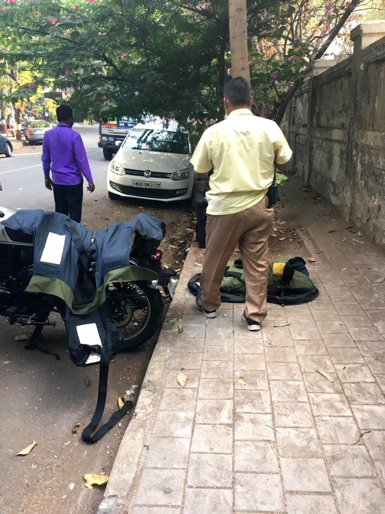 A SUV was found parked with suspected explosives outside Antilia, the home of industrialist Mukesh Ambani, in South Mumbai.. - Mukesh Ambani
