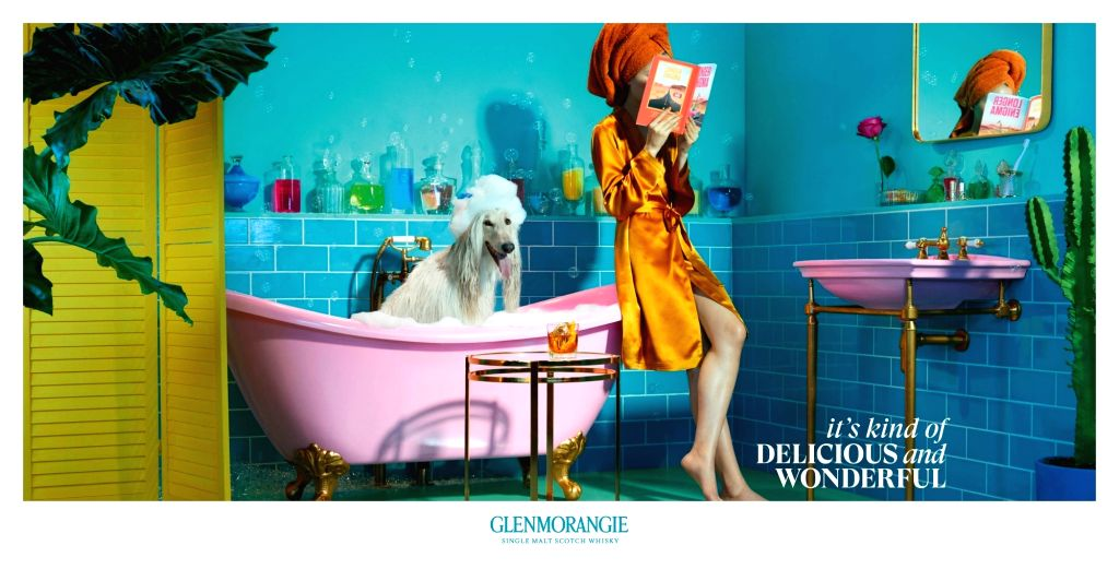 A technicolour campaign launched in India by Glenmorangie.(photo:ianslife)