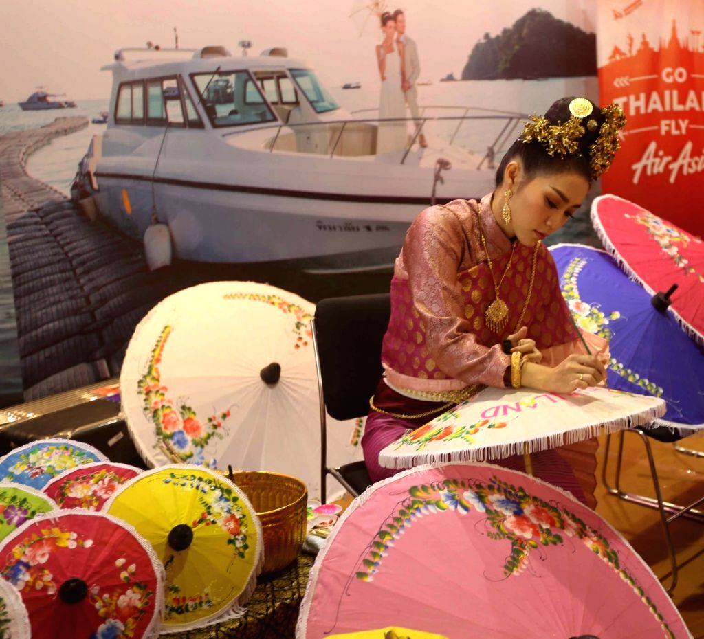A Thai artist during Travel and Tourism Fair (TTF) in Kolkata on Feb 22, 2019.