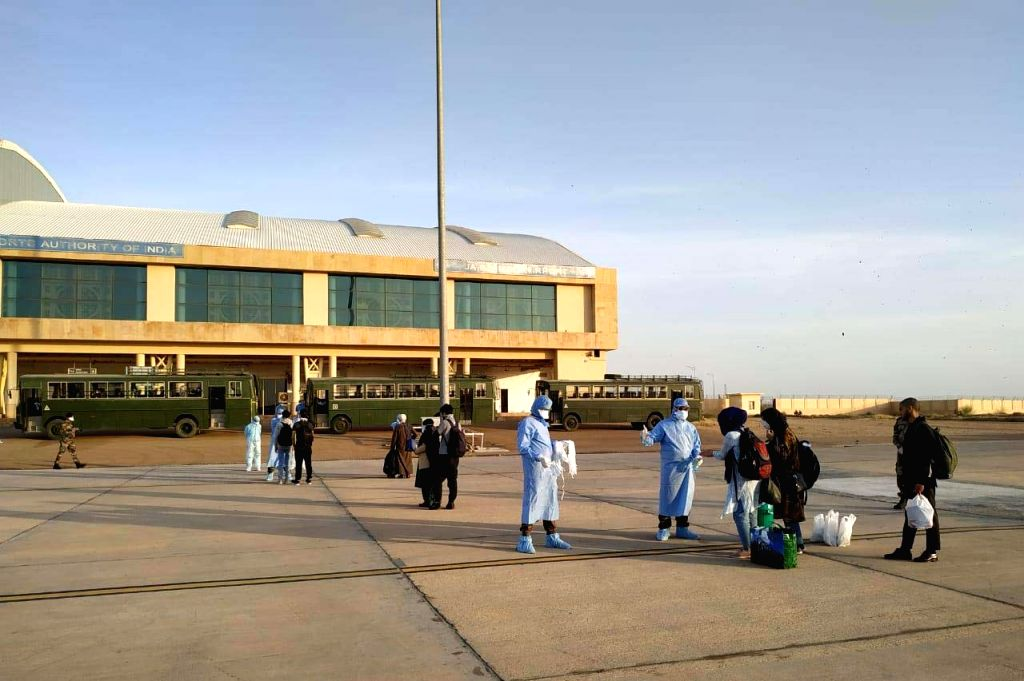 A total of 195 stranded Indians from coronavirus-hit Iran arrived in Rajasthan's Jaisalmer by a special plane on Wednesday evening.