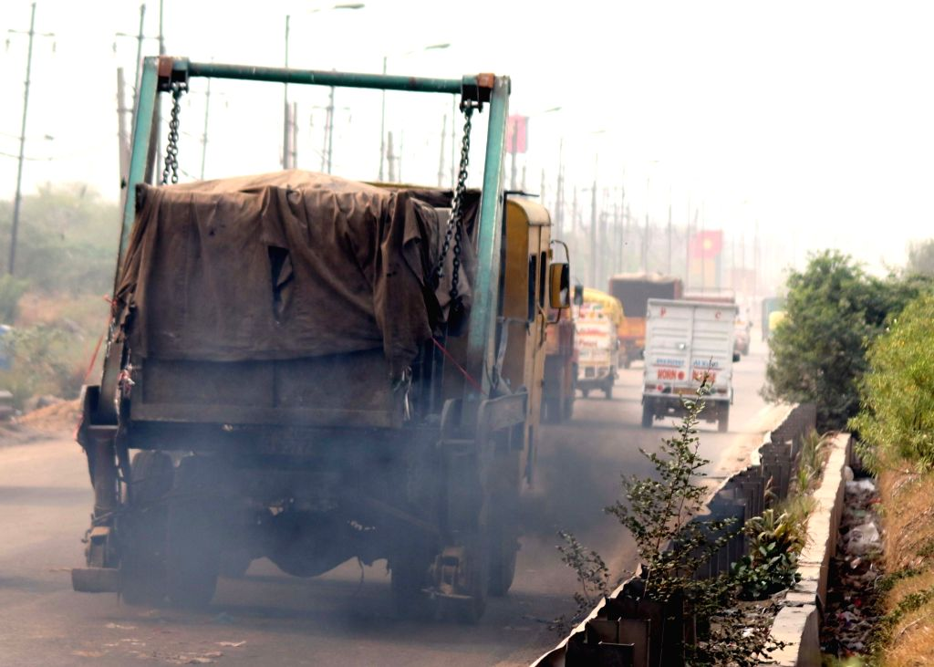 A truck releases toxic fumes. (File Photo: IANS)