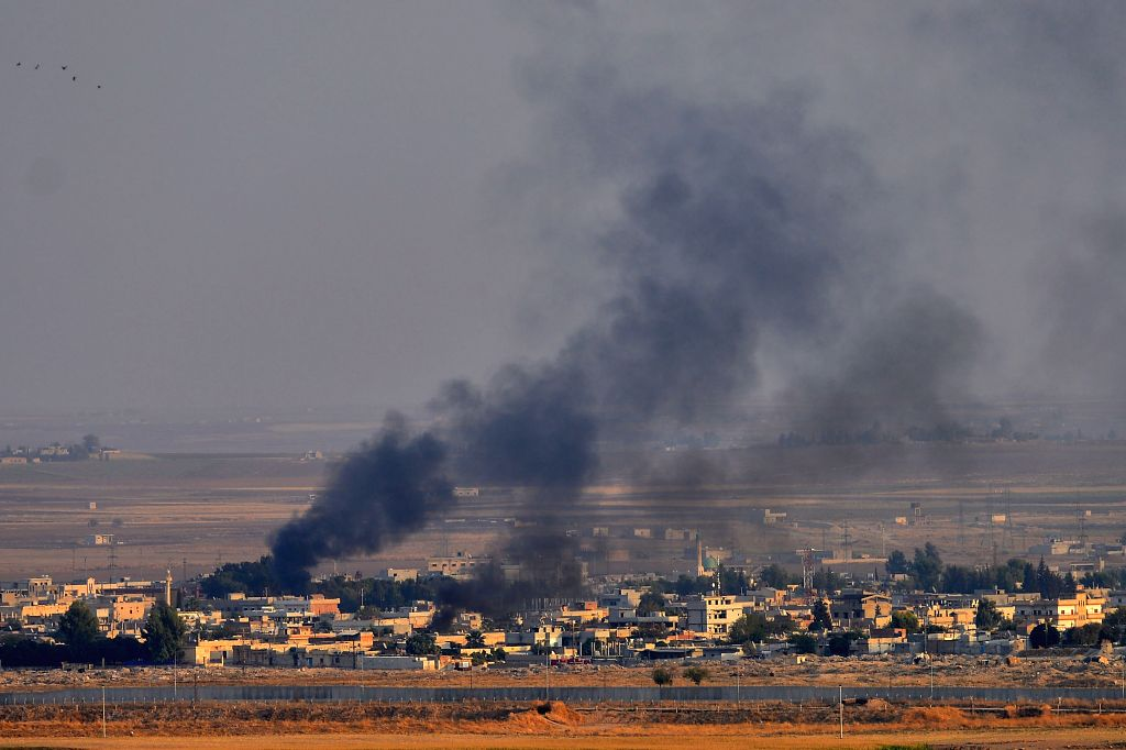 A Turkish soldier was killed and five others sustained injuries in an attack by the Syrian Kurdish group in northern Syria, Turkey's Defense Ministry said on Sunday. (Photo by Mustafa Kaya/Xinhua/IANS)
