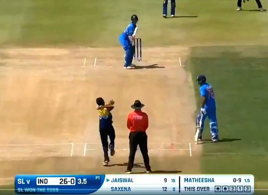 A video is doing the rounds on the Internet which shows a 17-year-old Sri Lanka's fast bowler Matheesha Pathirana bowling at 175-kmph delivery against India in 2020 under-19 world cup, speedometer showed. - Matheesha Pathirana