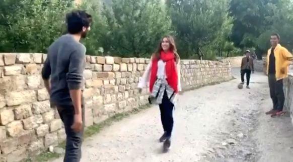 "A video of Bollywood actor Kartik Aaryan's fan calling actress Sara Ali Khan ""Bhabhi"" has gone viral. Kartik has shared a new video on Instagram, in which Sara is seen getting mildly irritated at being called ""bhabhi (sister-in-law)"". - Kartik Aarya and Sara Ali Khan"