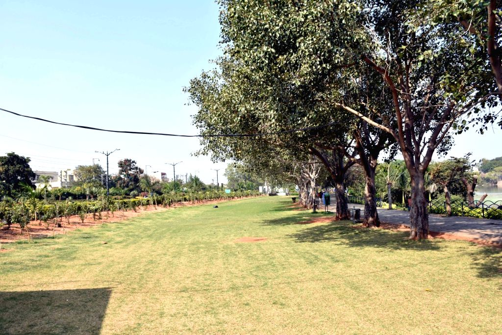 A view deserted park in Hyderabad on Feb 14, 2019.