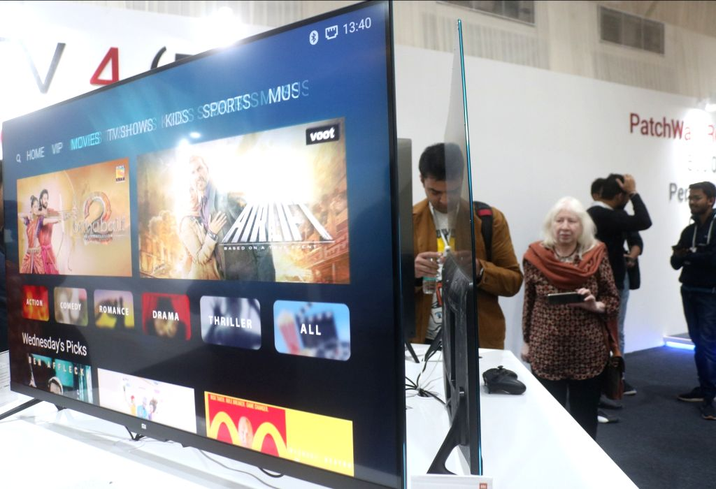 "A view of a demo zone at the launch of Xiaomi Redmi Note 5 and Note 5 Pro smartphones and smart LED TV called ""Mi TV 4"" in New Delhi on Feb 14, 2018."
