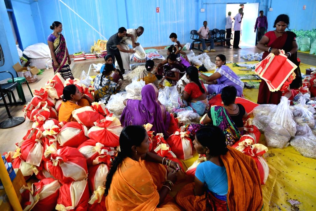 A view of a relief camp in Bettiah, Bihar on Aug 18, 2017.