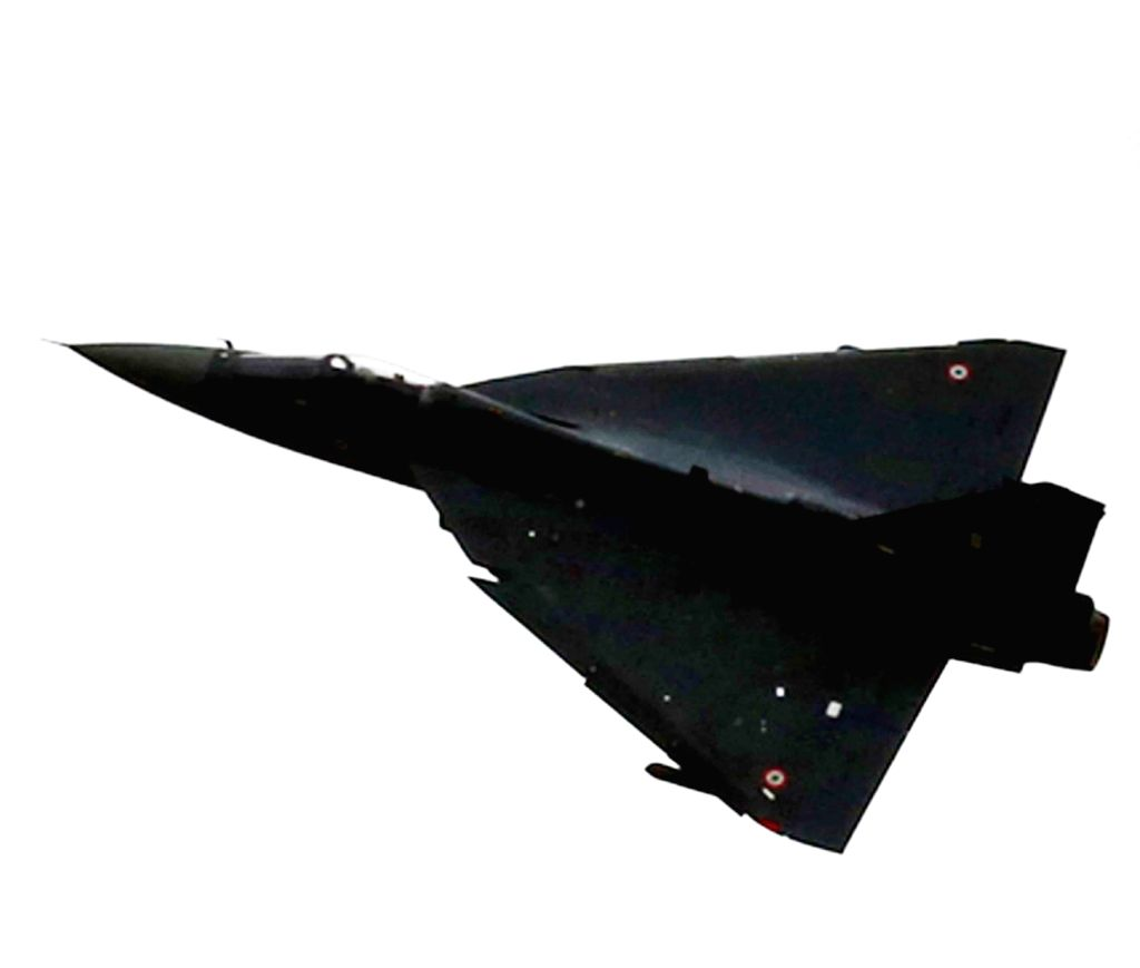 A view of airborne Tejas Light Combat Aircraft (LCA) in Bengaluru on July 1, 2016.