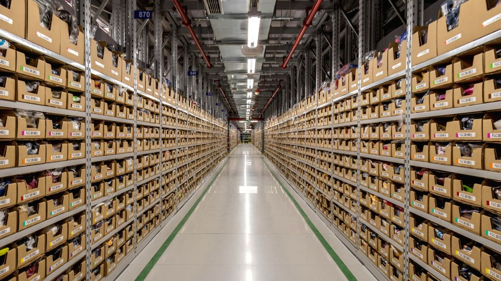 A view of Amazon's newly launched fulfillment Centre in Karnataka, near Attibele outskirt of Bengaluru on Sept 18, 2018.