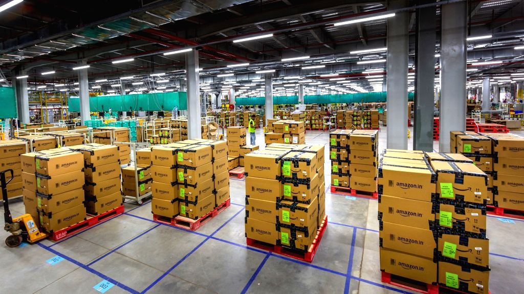 A view of Amazon's newly launched largest fulfillment Centre in Karnataka's Attibele on Sept 18, 2018.