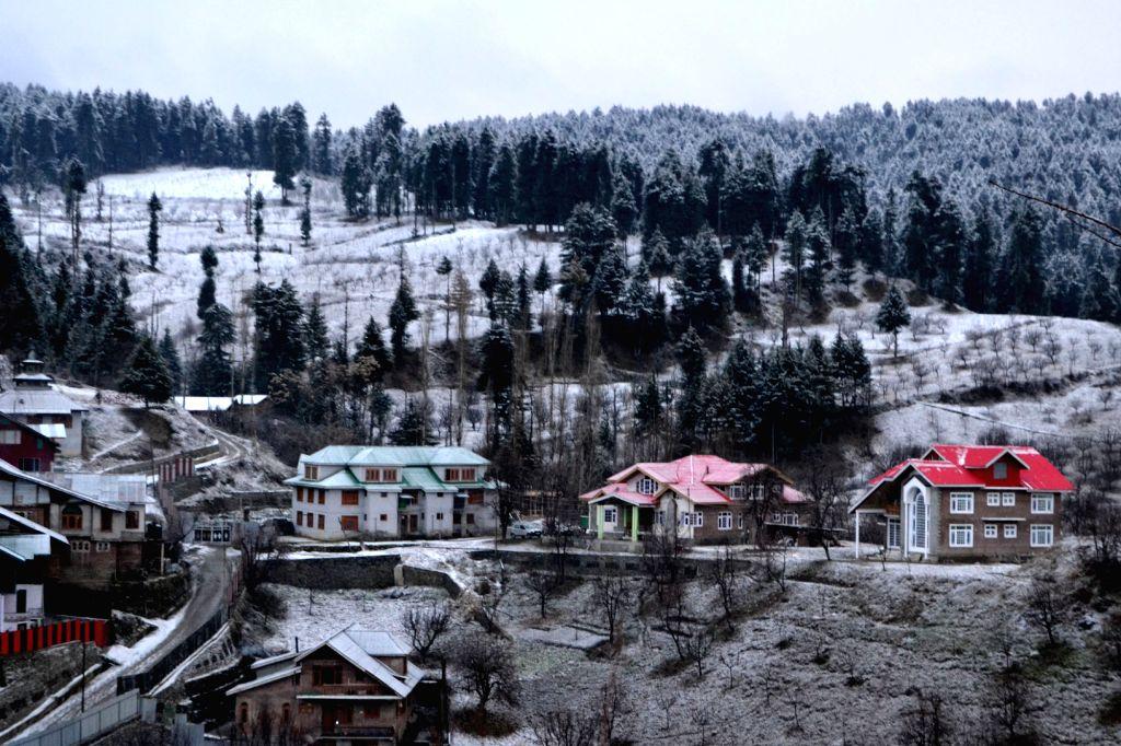 A view of Baramulla after snowfalls.
