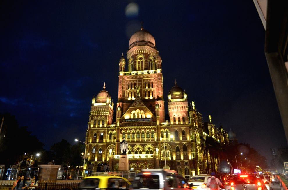A view of Brihanmumbai Municipal Corporation (BMC) Headquarters Building in Mumbai that completed its 125 years on July 31, 2017.