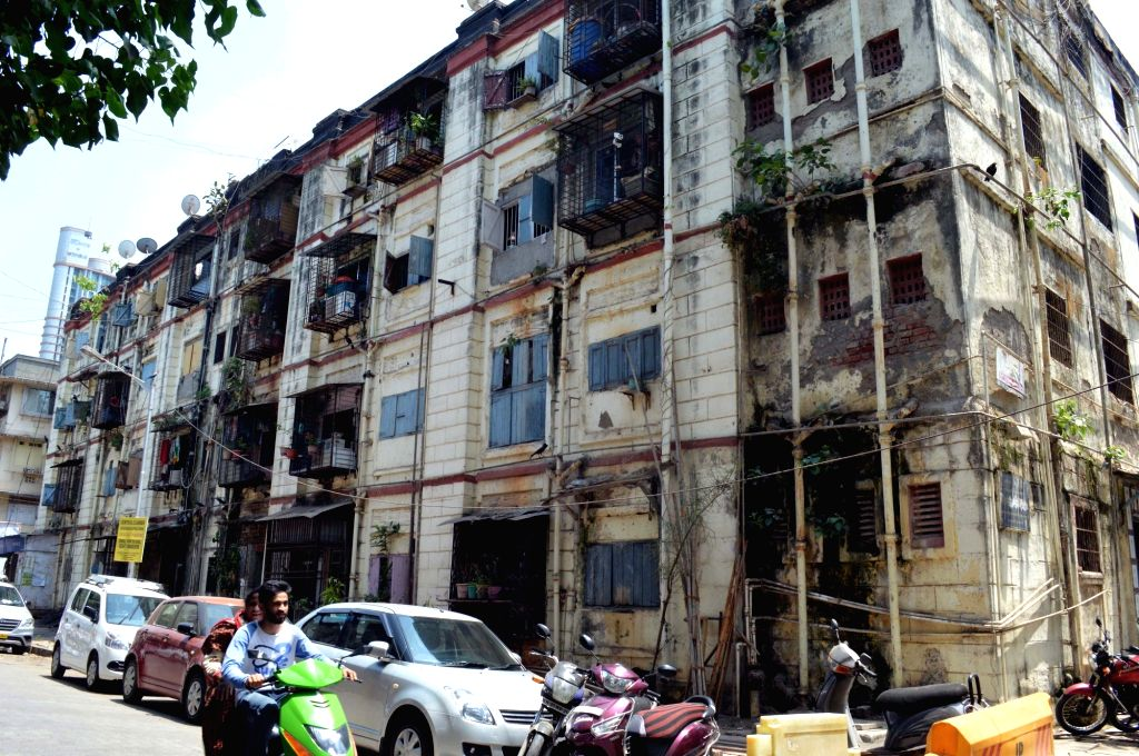 A view of British-era Bombay Development Directorate (BDD) chawls in Mumbai on April 22, 2017.