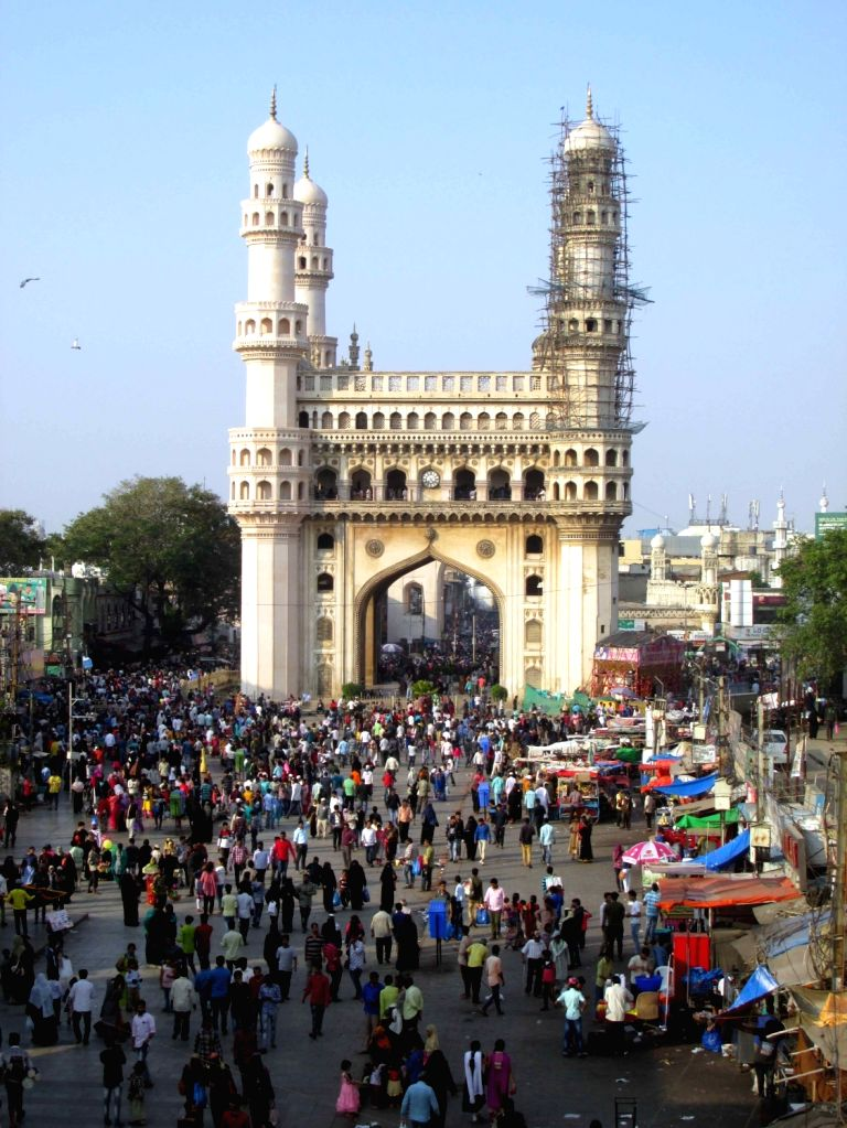 A view of Char Minar in Hyderabad on Feb 3, 2019.