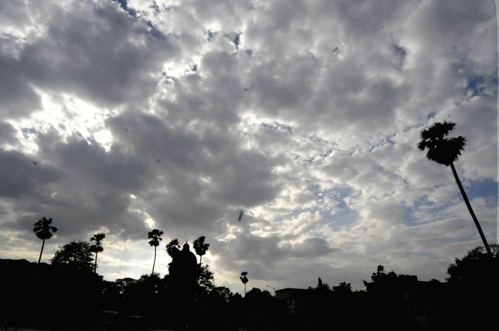 A view of cloudy day in Patna on June 27, 2017.