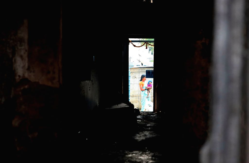 A view of Congress legislator Akanda Srinivas Murthy's house that was attacked and vandalised by an irate mob during violence that erupted late on Tuesday night over an inflammatory social ... - B.