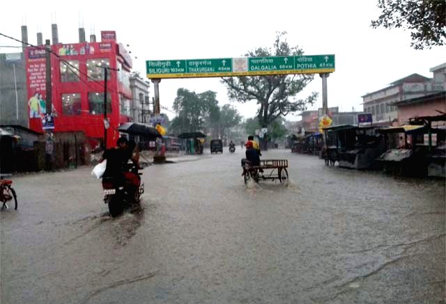 A view of flood hit Bhagamandala in Kishanganj district of Bihar on Aug 12, 2017.