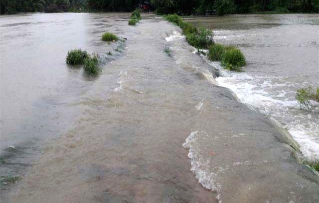 A view of flood hit Bhagamandala in Thakurganj district of Bihar on Aug 12, 2017.