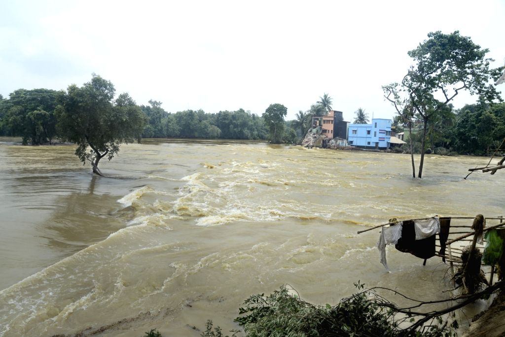 A view of flood-hit Ghatal in West Bengal's Paschim Medinipur district on July 31, 2017.