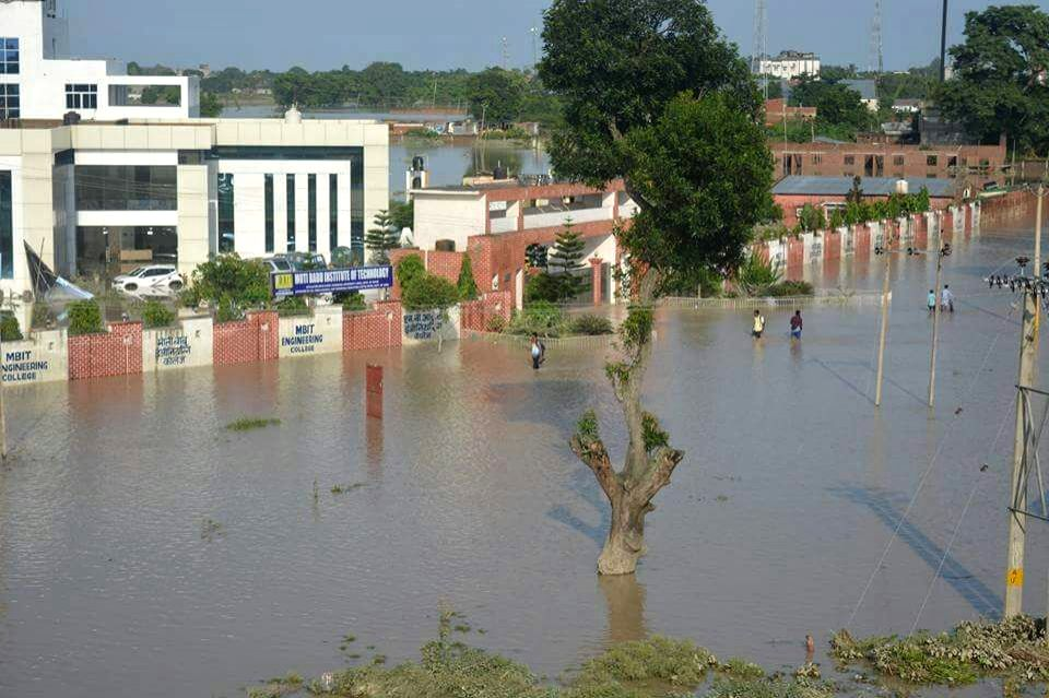 A view of flood hit in Katihar district of Bihar on Aug 16, 2017.